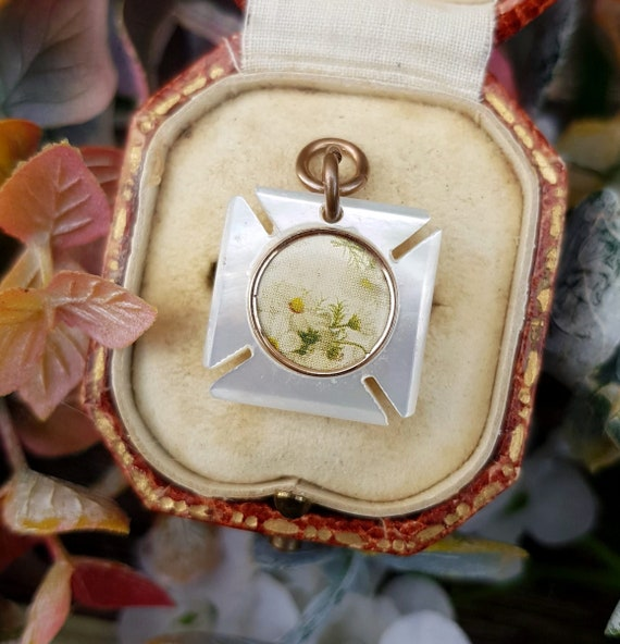 Antique Victorian Mother of Pearl Maltese Cross L… - image 4