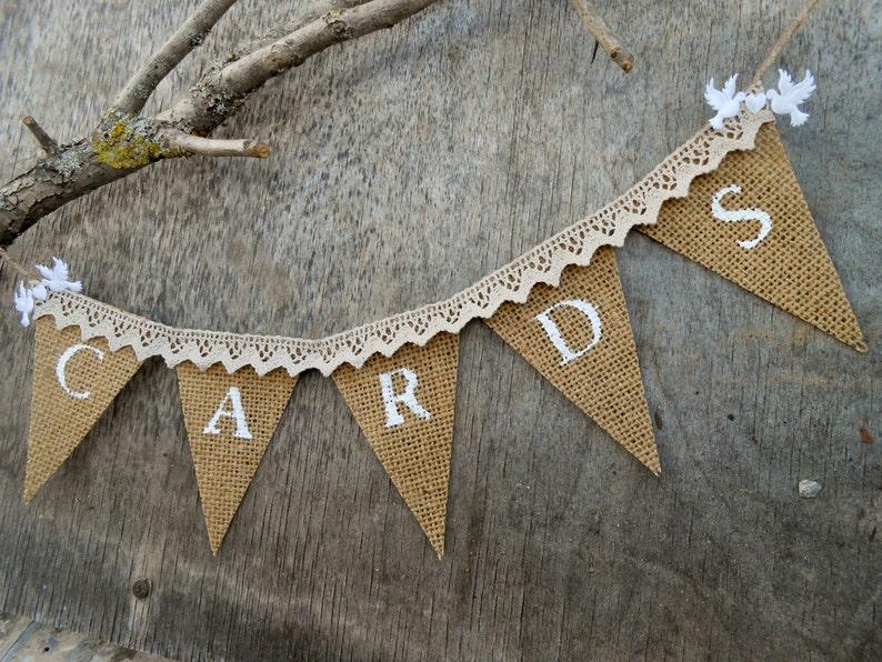 Wedding Cards Banner Wedding Reception Banner Burlap ...