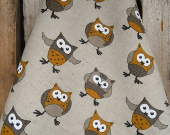 Owl Lovers Gift Owl Towel Woodland Linen Towel Tea Towel Kitchen Towel Gift For Her Dish Towel Owl Decor Christmas Gift For Mother Day