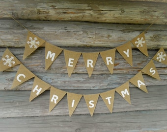 Christmas Banner Scandinavian Christmas Decor Swedish Christmas Merry Christmas Garland Holiday Banner Holiday Decor Christmas Bunting