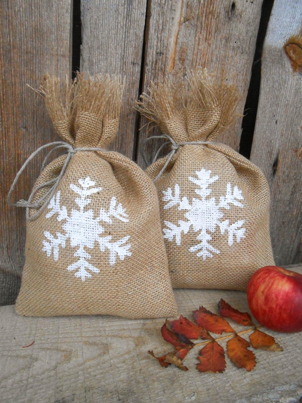 Schneeflocken Geschenk Tasche Santa Sack Sack Weihnachten Sack | Etsy