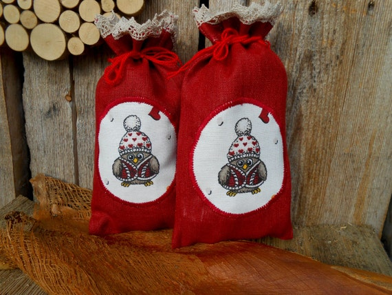 Christmas Fabric Gift Bags Christmas Decor Christmas Ornament   Etsy