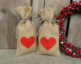 Burlap Favor Bags Burlap Bags Wedding Favor Bags Party Favor Bags Wedding Gift Bags Rustic Wedding Heart Bags Candy Bags Valentine Favor Bag