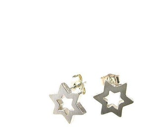 Sterling Silver Star Of David Studs Earrings