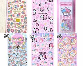 Japan Little Twin Stars Flake / Seal Sticker Seal cute sticker