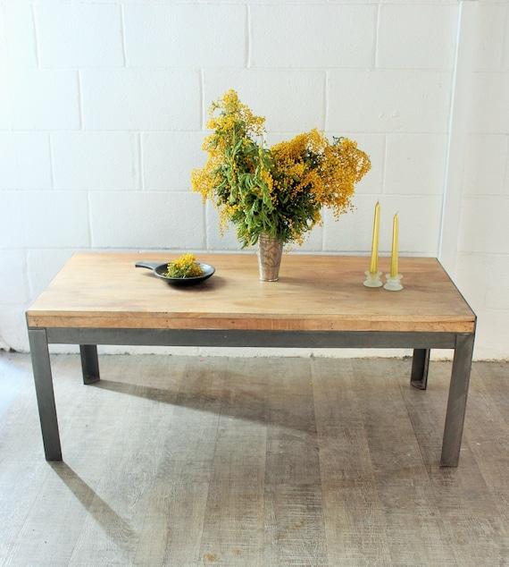 Table Basse Design Bois Metal