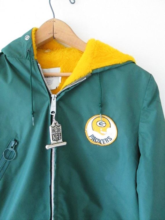 Football Lined PACKERS Sz Bay Licensed Stahl Green M Parka Fleece NFL S Urban Vintage 16zwqZxI