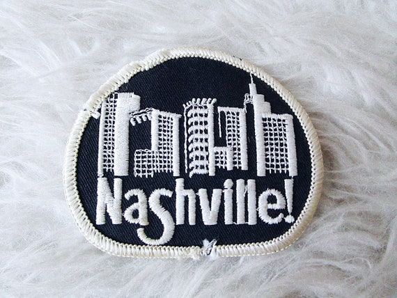 Vintage Nashville Tennessee Retro City Skyline Souvenir Patch Etsy
