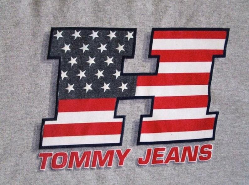 Vintage 90/'s TOMMY JEANS Tommy Hilfiger Sportswear Logo Crew Long Sleeve Tee Size X-Large
