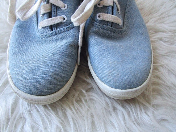 KEDS Chambray Up 5 Vintage Size Sneakers Wms Lace DENIM 7 Canvas 1990's S0xtw1gIwq