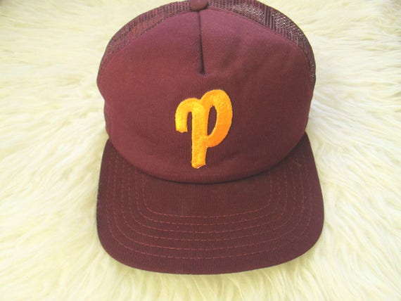 Vintage P Embroidered NEW ERA Mesh Back Snapback Hat  d62f9e7ed