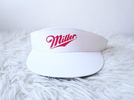 Vintage 80's MILLER BEER Visor SUN Hat