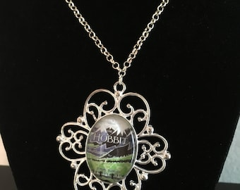 The Hobbit Book Cover Necklace
