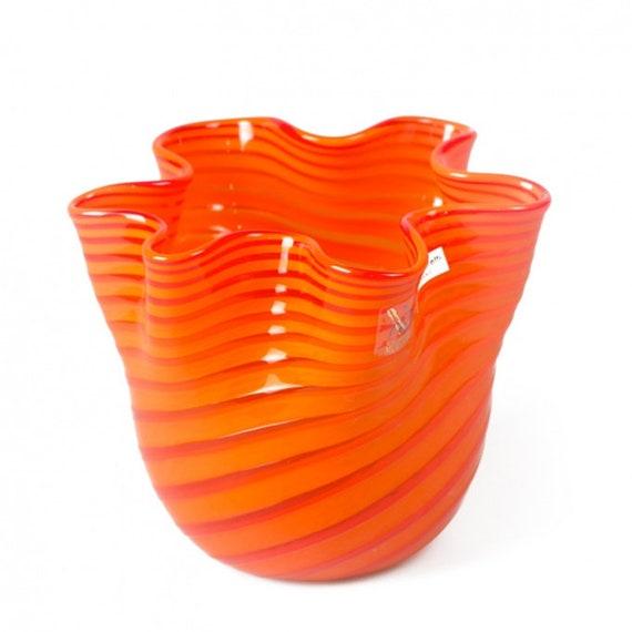 Murano Glass Vase Handmade Vase Bright Vase Blown Glass Etsy