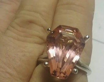 Coffin Gems® - 5CT SOLITAIRE RING or PENDANT - Sunset Peach