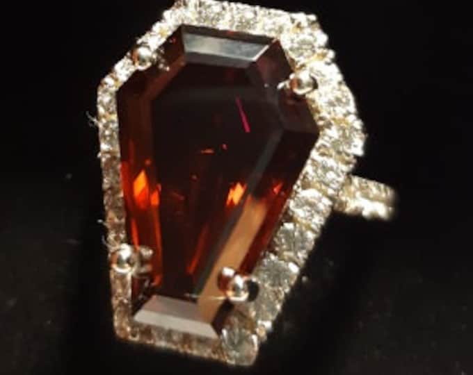 Coffin Gems® - 10CT HALO 1/2 STACK RING