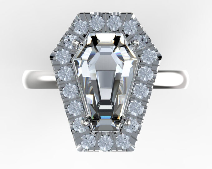 Coffin Gems® - 3CT HALO RING