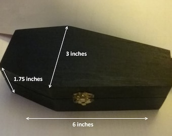 Coffin Gems® - Add On - COFFIN GIFT BOX (Black or Natural)