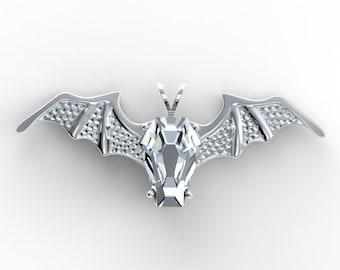 Coffin Gems® - 10CT BATWING PENDANT