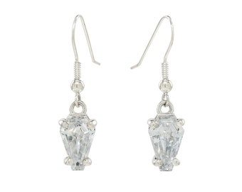 Coffin Gems® - 3ct DANGLE EARRINGS - done in Ghost white!
