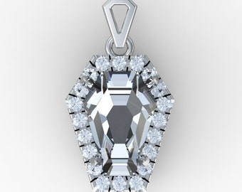Coffin Gems® - 5CT HALO PENDANT