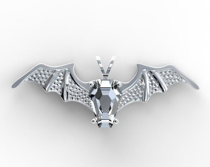 Coffin Gems® - 5CT BATWING PENDANT