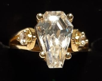 Coffin Gems® - 3CT ACCENT RING in 10k GOLD