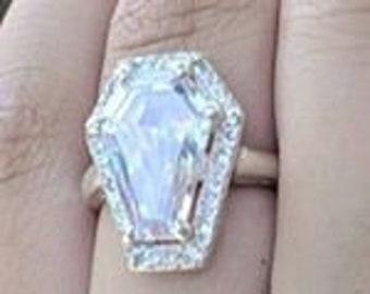 Coffin Gems® - 10CT HALO RING