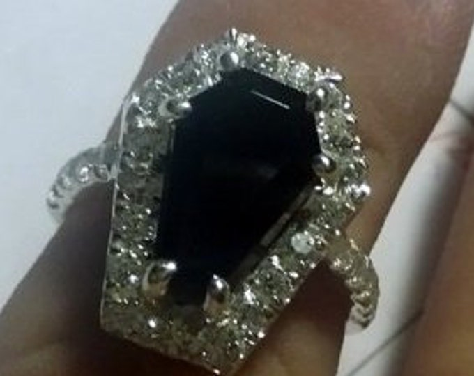 Coffin Gems® - 3CT HALO 1/2 STACK RING