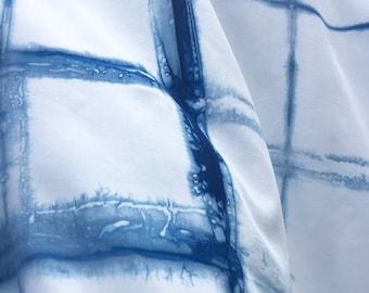 Rayon Shibori, Shibori For Clothing, Indigo Shibori for Curtains and Clothing