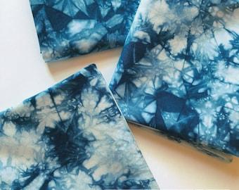 Hand Dyed Fabric, Shibori Tie Dye Fabric