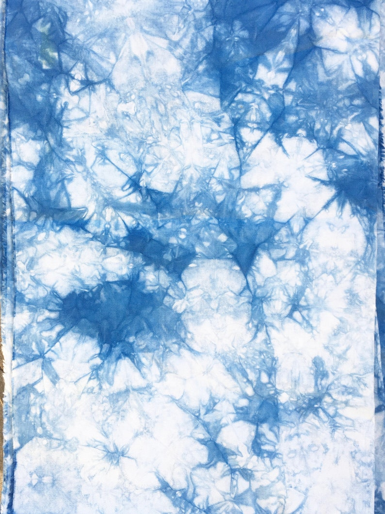 Cotton Duck Shibori Fabric Indigo Shibori Fabric for Upholstery and Home Decor