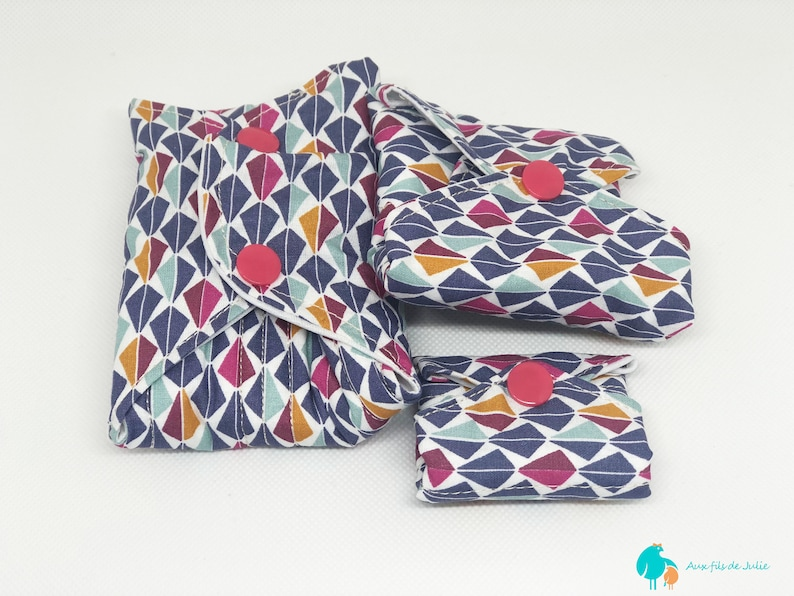 Washable hygienic towel flows natural purple pattern