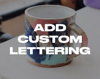 Personalization - Embossed Initials, Name or Short Phrase on Mug