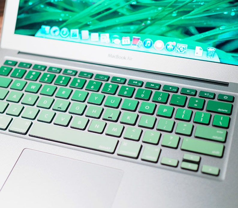 Green keyboard Stickers Laptop keyboard Cover Vinyl MacBook keyboard Decal  Air Skin kits MacBook Pro 15 Skin Decal MacBook touch bar 2017