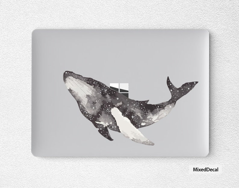Microsoft Surface Laptop Sticker Top Surface Skin Transparent Whale Decal Protector Cover