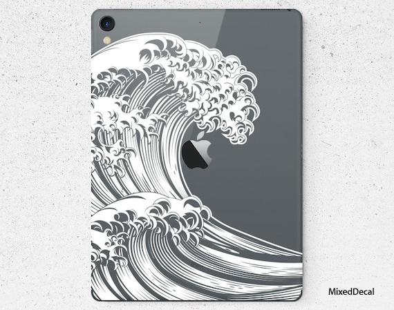 Great Wave iPad 7 Skin iPad Pro 10.5 Decal Sticker New iPad Pro Full Transparent decal Apple iPad Mini 4 sticker Mini 5 decals