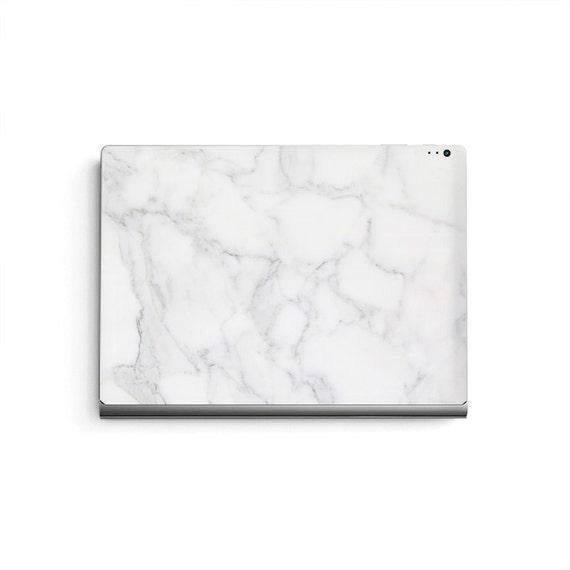 microsoft surface book skin keyboard sticker white marble etsy