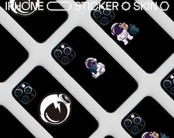 Astronaut Vinyl Transparent iPhone Skin Cut iPhone 12 Skin iPhone 12 Pro Max Skin Clear Skin iPhone Decals