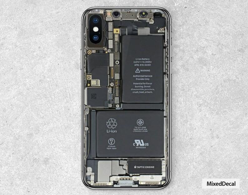 IPhone X Skin iPhone X Decal Phone Skin Tear Down Sticker  c5a7bf2ad3