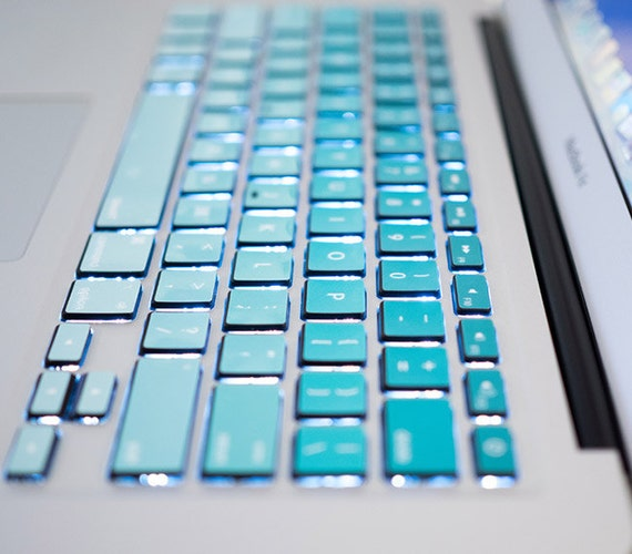 Blaue Macbook Tastatur Tasten Skin Macbook Tasten Aufkleber Etsy