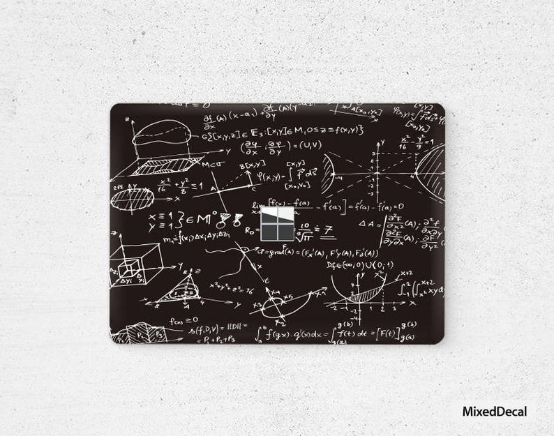 Microsoft Surface Laptop Skin Top Sticker Mad Math Bottom Decal Protector Cover