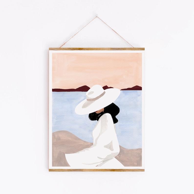 Sunset Dreamer Art Print  Sabina Fenn Illustration  Gouache image 1