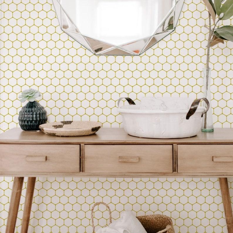 Honeycomb WallpaperRemovable Wallpaper Wallpaper Peel and image 0