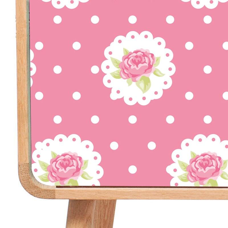 roses papier peint pois adh sif papier peint autocollant. Black Bedroom Furniture Sets. Home Design Ideas