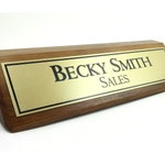 Desk Name Plate, Personalized Wood Desk Name, Office Name Sign, Customized Walnut Desk Name, Wood Name