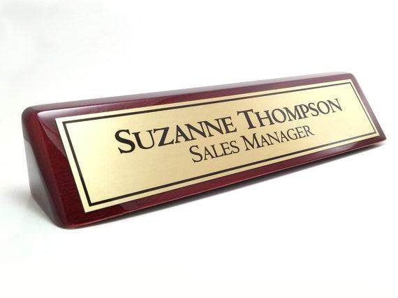Bureau personnalisé plaque didentification nom plaque etsy