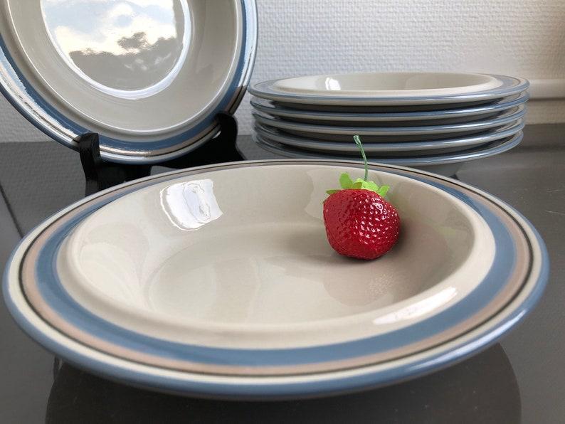 Set of 2 plates. Uhtua soup plate by Inkari Leivo ARABIA\u00a070s Finland Home decor