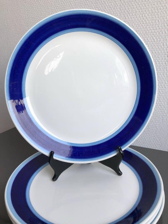 Lido plaque Stig Lindberg Gustavberg Suède - au milieu du siècle des années 60. 2 assiettes vintage.