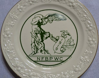 Vintage Commemorative Plate Tennessee Womens Club NFBPWC Tennessee  Panchosporch
